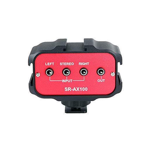 """<pre>Saramonic SR-AX100 Universal Audio Adapter mit Stereo und Dual Mono 3,5 mm-Eingängen für DSLR und Camcorder """"/></a> <br><a href="""
